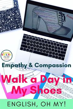 Are you looking for an engaging back to school activity or back to school lesson for middle school students? Check out Walk A Day in My Shoes lesson and activities. Your students will focus on compassion and empathy, and work on ice breaker activities to help make the new school year more comfortable.  Middle School ELA  Middle School English Language Arts  Back to School Activities  English Lessons