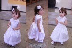 Munamó: Passo a passo de um vestido de batizado infantil. christening dress tutorial