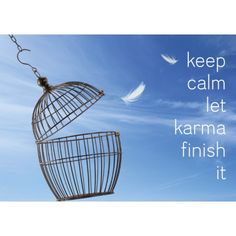 Briefkaart Keep calm let karma finish it Briefkaart Keep calm let karma finish it