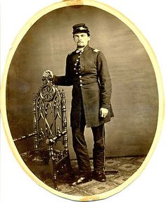 Civil War Photograph of Union Officer in Uniform c1863 Large Oval Format 7 x 9 | eBay