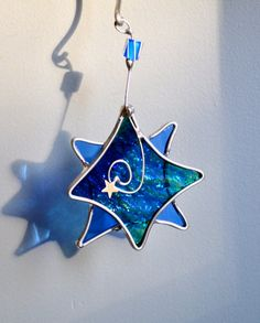 Twinkle Star  Stained Glass Suncatcher by dortdesigns on Etsy, $10.00