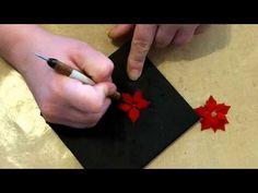 ▶ Poinsettia with Velvet Ribbon & Nestabilities Dies - YouTube