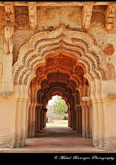 https://flic.kr/p/bHH4sT   Arches of Lotus Mahal, Hampi, Karnataka    The one that needs a special mention inside the Zenana Enclosure is the Lotus Mahal. Or rather this is the highlight in Zenana Enclosure.   The style of it is a pleasant departure from the typical architecture you see in Hampi. The exact function of this is not surely known. Located inside the Zenana enclosure, most probably this was a socializing area for the women folks in the royal family.   Also known as Chitragani…