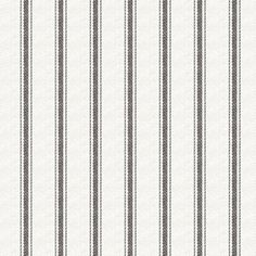 Downtown Mink Blind and Curtain fabric from Hillary's, a monochrome black and white ticking stripe pattern print