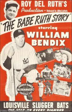 William Bendix for Louisville Slugger baseball bats