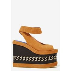 Jeffrey Campbell Siever Suede Platform (6840 RSD) ❤ liked on Polyvore featuring shoes, sandals, brown, suede platform sandals, ankle wrap sandals, narrow sandals, brown sandals and brown high heel sandals