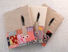 vintage patchwork + linen notebooks | blogged :: JC handmade… | Flickr