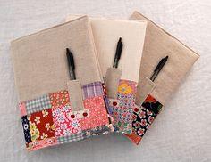 vintage patchwork + linen notebooks | blogged :: JC handmade… | Flickr