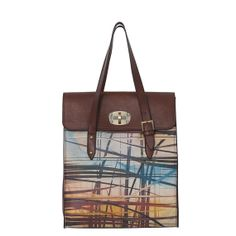 Coloured Stripes Genuine Leather Bag by ArtofWeaving on Etsy, $283.00