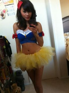 Sexy Snow White Costume Selfie