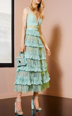 Tiered Midi Dress by Elie Saab