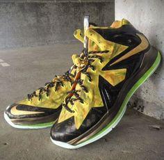 THE SNEAKER ADDICT: Nike Lebron 10 2x Champ Custom Mache Sneaker. #mache