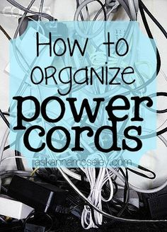 Lots of creative tips for organizing bulky power cords | Ask Anna