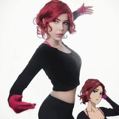 Japan Anime Yuri!!! on Ice Mila Babicheva Cosplay Wig Short Curly Women Red Bob COS Party Wigs for African American