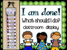 """I am done! Now what should I do?"" These are some very famous words spoken by our students year after year. **UPDATED (8-18-16): New Graphics have been added on several cards. There is also a new editable add-on pack available for customizing your own cards."