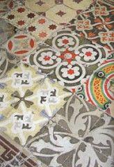 Antique cuban encaustic tile…possibly for the KT backsplash…something like the bottom grey tile