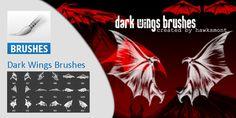 Dark Wings Brushes #Halloween Dark Wings, Brushes, Halloween, Blush, Paint Brushes, Spooky Halloween, Makeup Brush