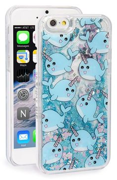 Skinnydip 'Narwhal' Glitter Liquid iPhone 6 & 6s Case