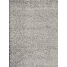 $179 World Rug Gallery Soft Cozy Solid Light Gray 7 ft. 10 in. x 10 ft. Indoor Shag Area Rug-2700 L.Gray 8x10 - The Home Depot
