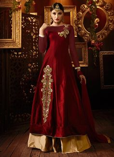 Buy Maroon Taffeta Silk Long Choli Lehenga online from the wide collection of Lehenga.  This Maroon  colored Lehenga in Taffeta  fabric goes well with any occasion. Shop online Designer Lehenga from cbazaar at the lowest price.