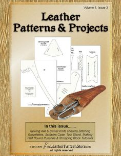 Leather Patterns & Projects - Pattern Pack for leathercrafters - Vol. Sewing Leather, Leather Pattern, Diy Leather Projects, Leather Crafts, Leather Working Patterns, Larp, Leather Tooling, Leather Box, Soft Leather