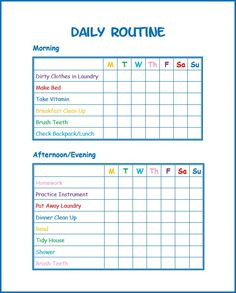 daily routine printable for kids will help kids stay on task and develop good habits.This daily routine printable for kids will help kids stay on task and develop good habits. Daily Routine Chart For Kids, Charts For Kids, Daily Routines, Choir Chart For Kids, Bedtime Routine Chart, Morning Routine Chart, Daily Routine Schedule, Morning Routine Kids, Kinder Routine-chart
