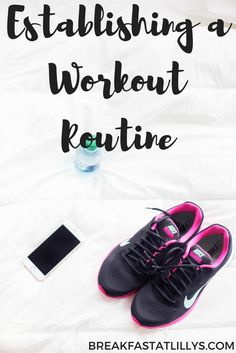 Need to get back in the gym game? I can help! Today on Breakfast at Lilly's I am sharing some tips and tricks on establishing a workout routine.