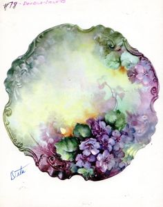 Double Violets 78 by Sonie Ames China Painting Study 1976 | eBay