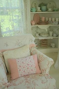 Quaint chair and delicate china