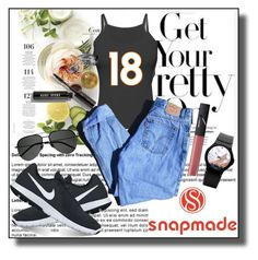 """""""Snapmade 4"""" by dinna-mehic ❤ liked on Polyvore featuring Martha Stewart, Levi's, NIKE, Bobbi Brown Cosmetics, Yves Saint Laurent, NARS Cosmetics and snapmade"""