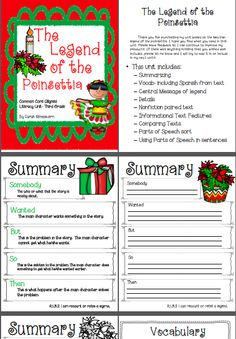 Sassy image inside the legend of the poinsettia printable story