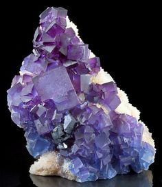 Fluorite with Galena on Quartz from New Mexico by Exceptional Minerals