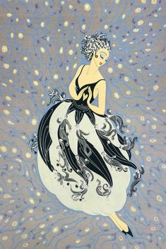 """Tuxedo"" by Erté (Romain de Tirtoff), Russian-born French artist. (1892 – 1990). High Resolution."
