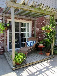 How hard would it be to make a pergola for our deck? Wish I could do it myself. : /