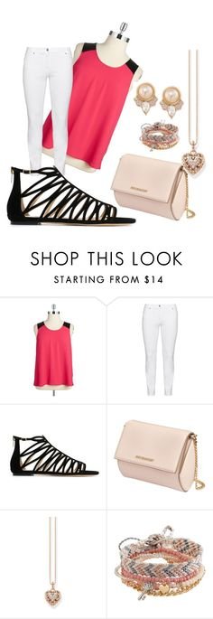 """""""Yah Or Nah"""" by courtneymoody234265 on Polyvore featuring BB Dakota, Steilmann, Jimmy Choo, Givenchy, Thomas Sabo, Aéropostale, Carolee and plus size clothing"""