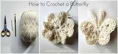 Image result for free large crochet butterfly pattern