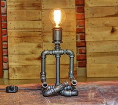 The Yogi Industrial Desk Lamp - Pipe Light - Table Lamp - Lamp - Steampunk Lamp - Lighting - Desk Lamp - Table Light - Accent Lamp