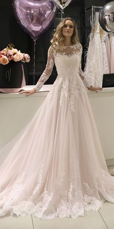 Marvelous Tulle Jewel Neckline A-line Wedding Dress.- Marvelous Tulle Jewel Neckline A-line Wedding Dresses With Beaded Lace Appliques Marvelous Tulle Jewel Neckline A-line Wedding Dresses With Beaded Lace Appliques - Fall Wedding Dresses, Colored Wedding Dresses, Designer Wedding Dresses, Wedding Attire, Bridal Dresses, Wedding Dress Lace, Backless Wedding, Tulle Wedding, Beaded Dresses