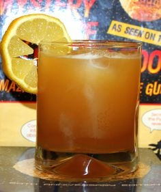 MST3K Cocktails: Crow T. Robot 4 parts golden tequila 1 part peach brandy 2 parts lime juice 2 parts honey Shake together with ice for two minutes, strain over ice, garnish with a lemon slice