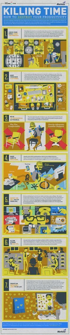 How to kill time and loose productivity -  #productivity #work