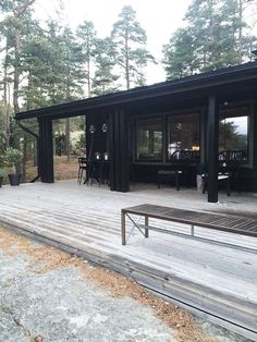 Black Shed, Black House, Shed Homes, Log Homes, Storybook Gardens, Tiny House Cabin, Cottage Living, House In The Woods, Modern House Design
