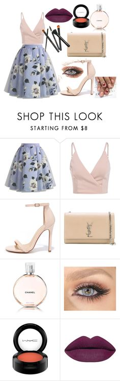 """""""Untitled #60"""" by sofiaoneofakind on Polyvore featuring Chicwish, Liliana, Yves Saint Laurent, Chanel, MAC Cosmetics, makeup, girl and fashionset"""
