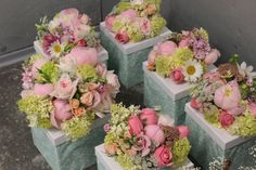 Wedding Bouquets Packed up for delivery