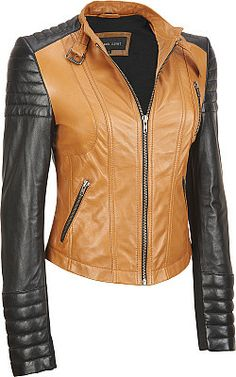 c8016c31a050 Black Rivet Colorblock Leather Moto Jacket w  Quilting. Wilsons Leather  Leather Cleaning