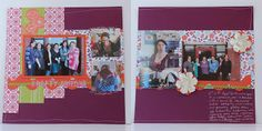 double page scrapbook layout using Floral District DSP from Stampin' Up!