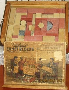 Vintage Riehter's Toy Stone Comet Building Blocks