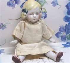 Vintage Antique Porcelain Bisque Doll with Jointed Arms Legs