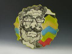Caricature plate - Chris. $25.00, via Etsy. Catie Miller