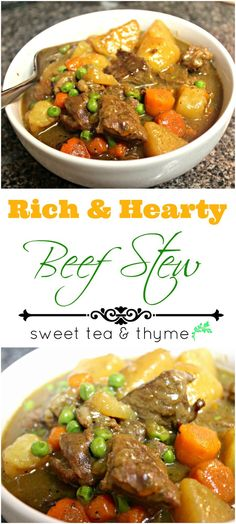 Hearty beef stew is a classic comfort food full of tender beef, potatoes, and veggies in rich gravy that is a perfect soul-warming meal on cold evenings.