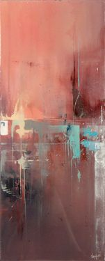 """'Missing Link' 10"""" x 24"""" Resin gloss finish"""